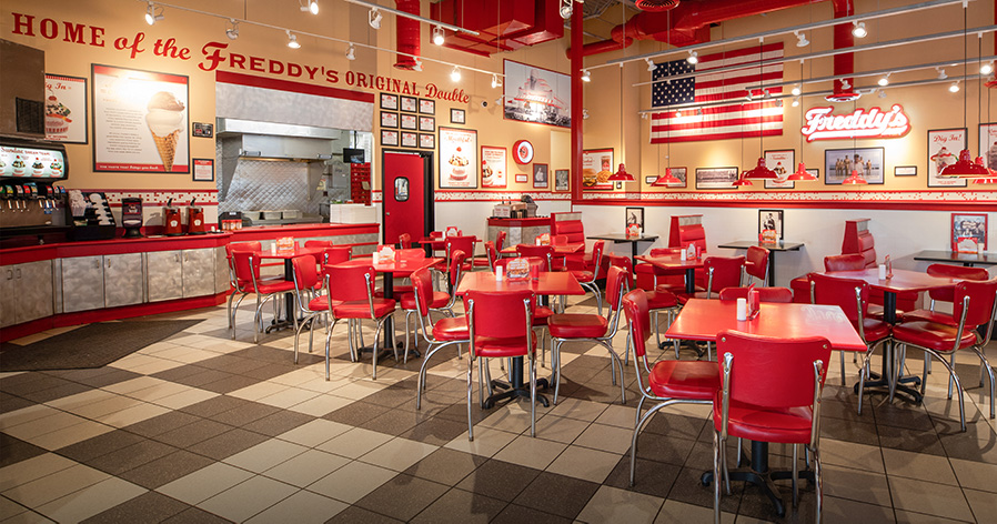 Interior of a Freddy's Franchise