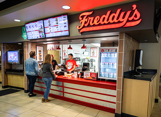 Freddy's location at Wichita State University