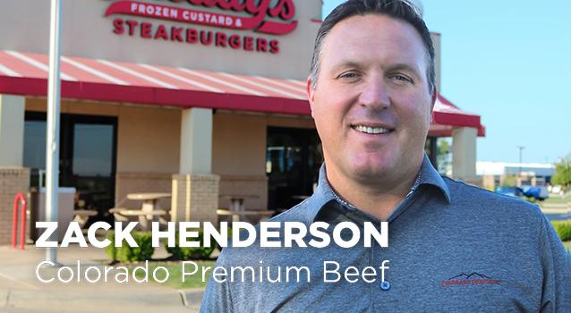 Freddy's vendor Zack Henderson, Colorado Premium Beef
